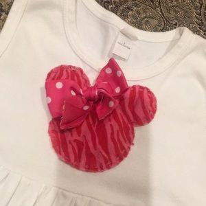 Disney Minnie Mouse Pink White Dress 6